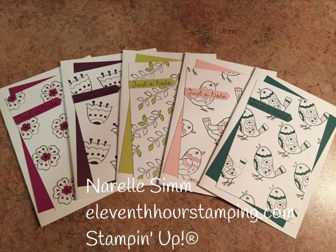 Paper Adventures Team Blog Hop - Hostess Sets | Feathered Friends' notecards, with 2017-2019 In Colours